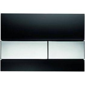 TECE WC Tastatur in schwarz / verchromt