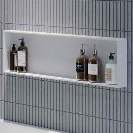 Duschregale vor die Wand oder eingelassen