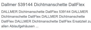 Dallmer 539144 Dichtmanschette DallFlex