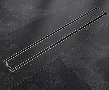 Optima Duschrinne Größe 1200 mm lang mit Ablaufganitur und Fliesenmulde.