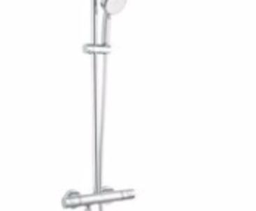 Grohe Brausearmatur mit Kopfbrause und Aufputz Thermostat